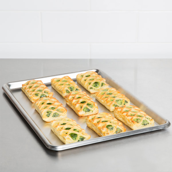 Baker S Mark Half Size Nsf 20 Gauge 13 X 18 Open Bead Rim Stainless Steel Bun Pan Sheet Pan