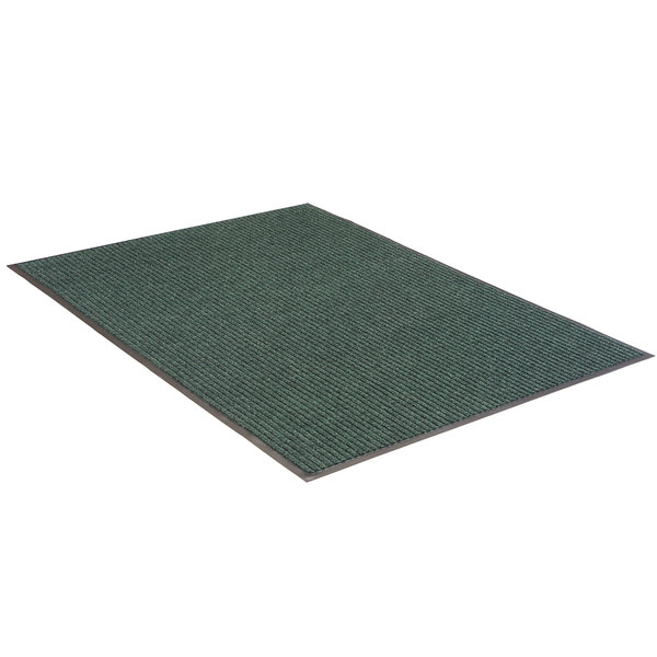"""Lavex Janitorial Needle Rib 4' x 6' Green Indoor Entrance Mat - 3/8"""" Thick Main Image 1"""