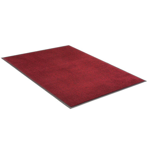 """Lavex Janitorial Plush 3' x 5' Red Olefin Indoor Entrance Mat - 3/8"""" Thick Main Image 1"""