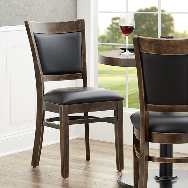 Lancaster Table & Seating Sofia Vintage Finish Upholstered Back Chair with Padded Seat Main Image 4