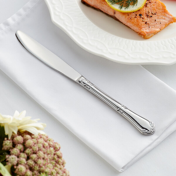 """Acopa Blair 9"""" 18/8 Stainless Steel Extra Heavy Weight Dinner Knife - 12/Case Main Image 3"""