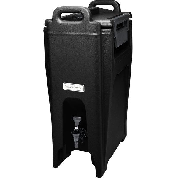 Cambro UC500110 Ultra Camtainer 5.25 Gallon Black Insulated Beverage Dispenser