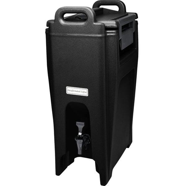 Cambro UC500110 Ultra Camtainers® 5.25 Gallon Black Insulated Beverage Dispenser Main Image 1