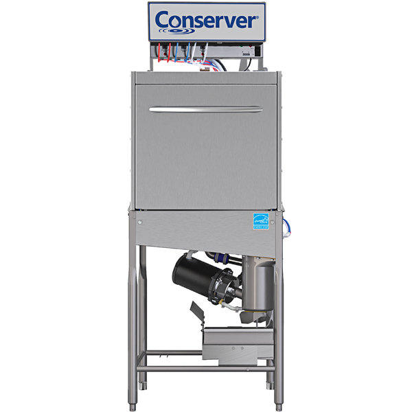 Jackson Conserver XL-E-FL Low Temperature Front Loading Single Rack Door Type Dish Machine - 115V Main Image 1