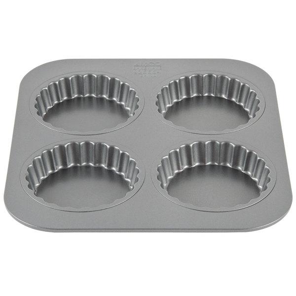 "4 Compartment 3 1/2"" Non-Stick Tart Pan"