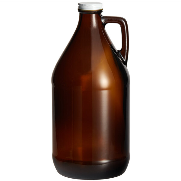 Acopa 64 oz. Amber Growler with Cap