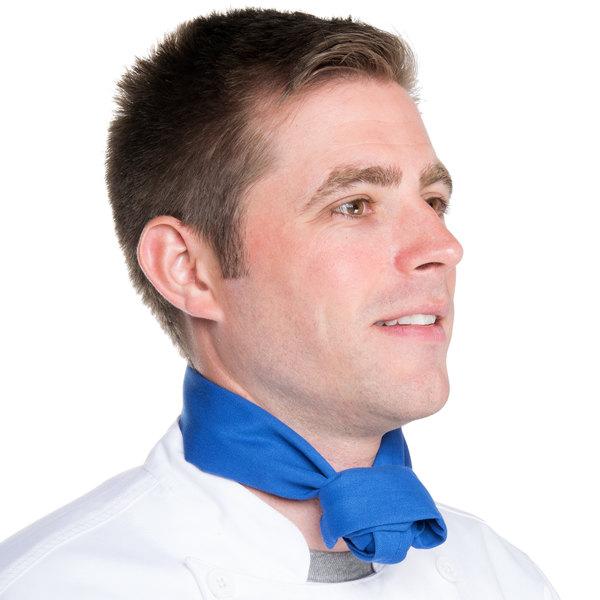 "Intedge 37"" x 14"" Solid Color Royal Blue Chef Neckerchief / Bandana"