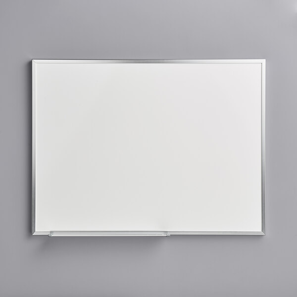 """Dynamic by 360 Office Furniture 24"""" x 18"""" Wall-Mount Melamine Whiteboard with Aluminum Frame Main Image 1"""