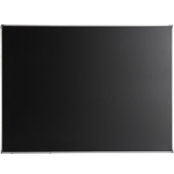 "Dynamic by 360 Office Furniture 48"" x 36"" Black Wall-Mount Magnetic Chalkboard with Aluminum Frame Main Image 1"