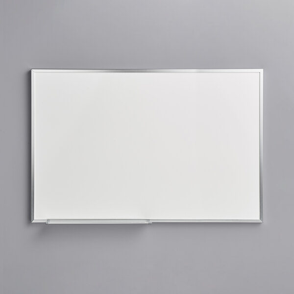 """Dynamic by 360 Office Furniture 36"""" x 24"""" Wall-Mount Melamine Whiteboard with Aluminum Frame Main Image 1"""