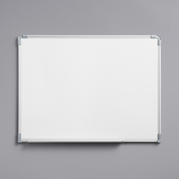 """Dynamic by 360 Office Furniture 24"""" x 18"""" Wall-Mount Magnetic Whiteboard with Aluminum Frame Main Image 1"""