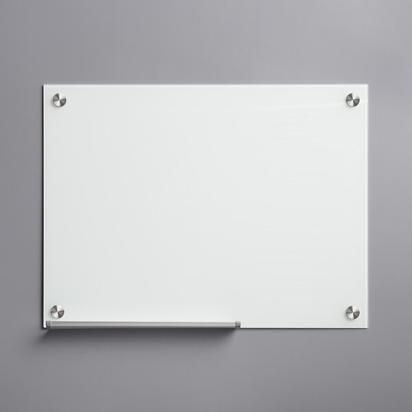"""Dynamic by 360 Office Furniture 24"""" x 18"""" Frameless Wall-Mount Frosted Glass Dry Erase Board Main Image 1"""