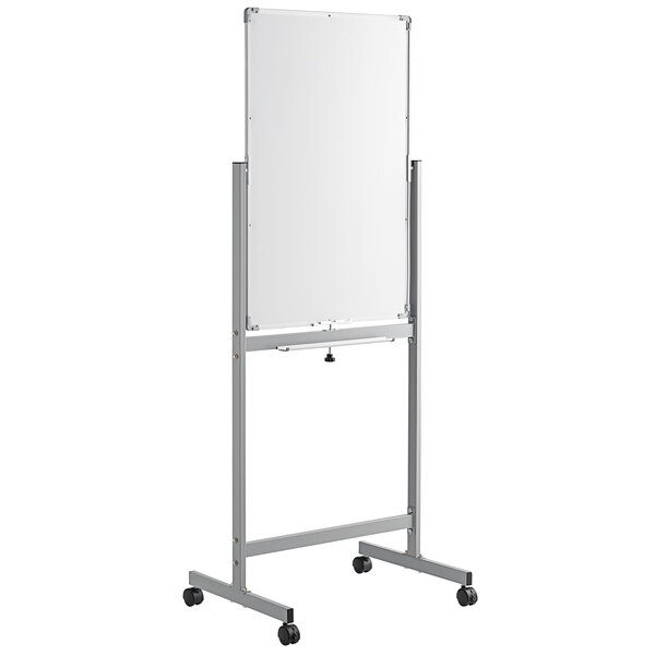 """Dynamic by 360 Office Furniture 36"""" x 24"""" Magnetic Whiteboard with Aluminum Frame and Mobile Stand Main Image 1"""