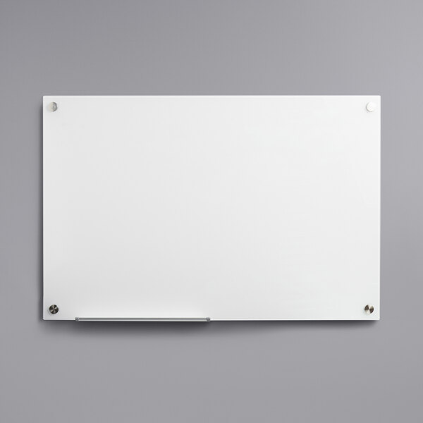 """Dynamic by 360 Office Furniture 36"""" x 24"""" Frameless Wall-Mount Frosted Glass Dry Erase Board Main Image 1"""