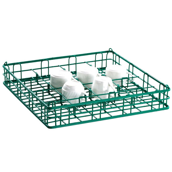 """16 Compartment Catering Glassware Basket - 4 1/2"""" x 4 1/2"""" x 3"""" Compartments Main Image 7"""