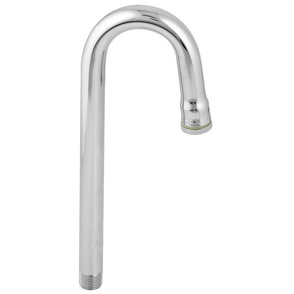 "T&S 119X Rigid Gooseneck Faucet Nozzle - 8 3/4"" High with 2 3/4"" Spread Main Image 1"