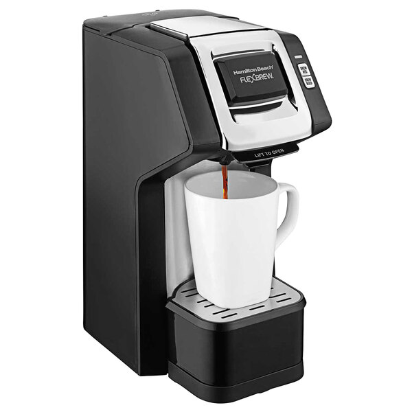 Hamilton Beach 49979 FlexBrew Plus Black Hospitality Single-Serve Coffee Maker