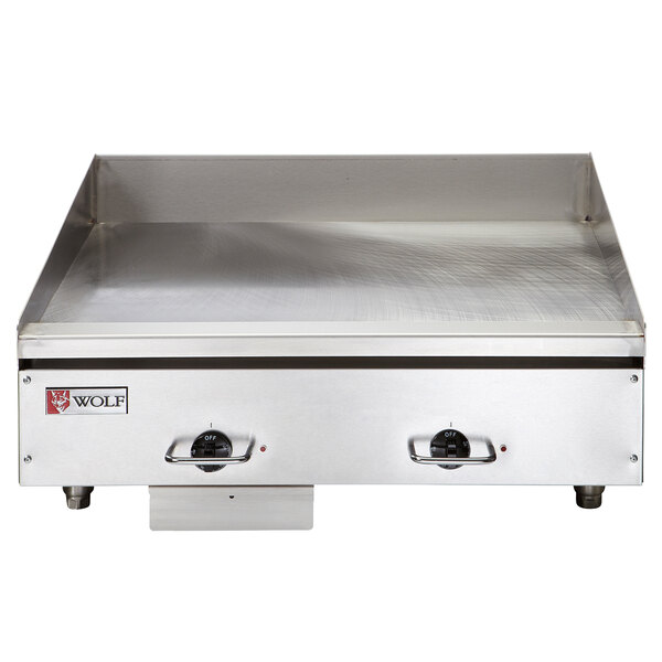 """Wolf WEG24E-24C 24"""" Electric Countertop Griddle with Snap-Action Thermostatic Controls and Chrome Plate - 208V, 1 Phase, 10.8 kW Main Image 1"""