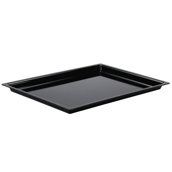 "Cal-Mil 325-10-13 10"" x 12"" Shallow Black Bakery Tray"