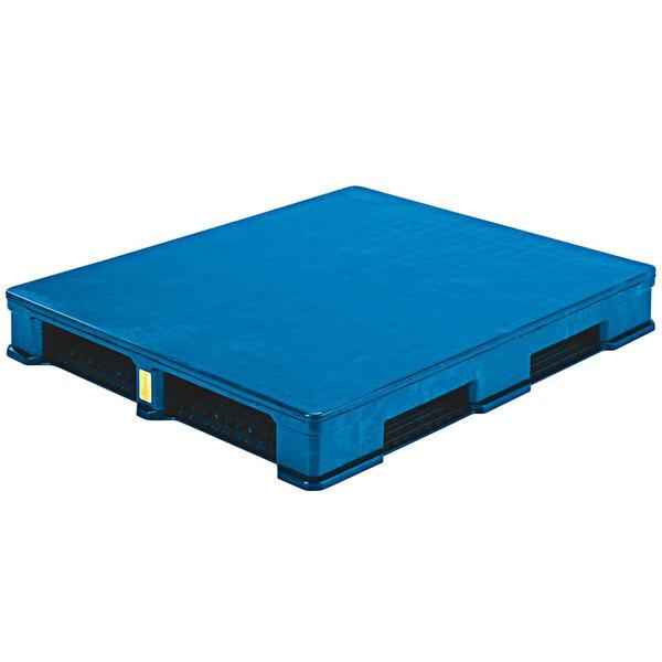 "Regency RII CIISC 48"" x 40"" Blue Polyethylene Rackable Pallet Main Image 1"