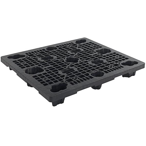 """Regency XpressPal 48"""" x 40"""" Black Polyethylene Economy Duty Nestable Pallet Main Image 1"""
