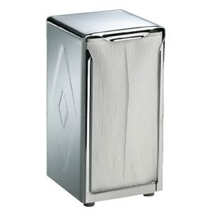 San Jamar H900X Tallfold Two-Sided Tabletop Napkin Dispenser - Stainless Steel