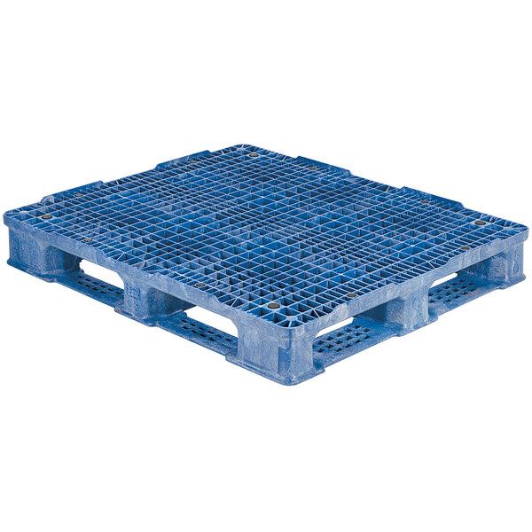 "Regency RackoCell 48"" x 40"" Blue Polyethylene Rackable Pallet Main Image 1"