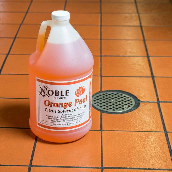 Noble Chemical 1 Gallon / 128 oz. Orange Peel Citrus Solvent Cleaner - 4/Case Main Image 3