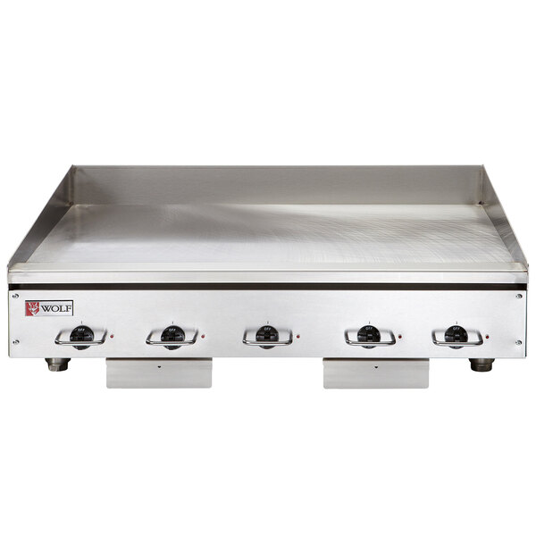 """Wolf WEG60E-24C 60"""" Electric Countertop Griddle with Snap-Action Thermostatic Controls and Chrome Plate - 208V, 3 Phase, 27 kW Main Image 1"""