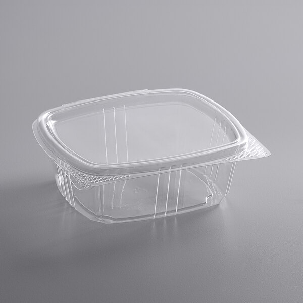 Choice 12 oz. Clear RPET Hinged Deli Container  - 200/Case