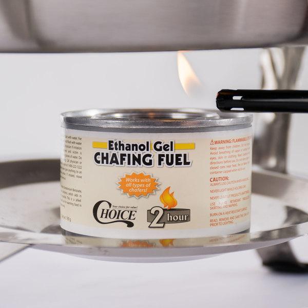 Choice 2 Hour Ethanol Gel Chafing Dish Fuel - 72/Case