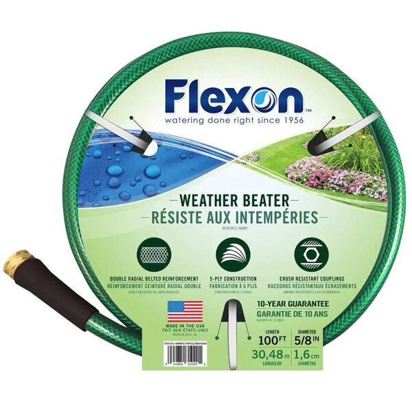 "Flexon WB58100 5/8"" x 100' Green Medium-Duty Garden Hose Main Image 1"