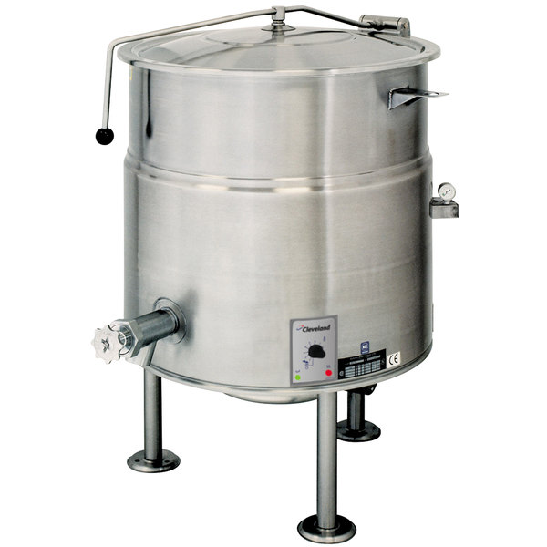 Cleveland KEL-80 80 Gallon Stationary 2/3 Steam Jacketed Electric Kettle - 208/240V Main Image 1