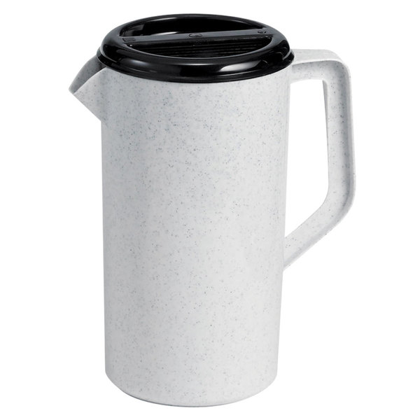 Tablecraft 144GRT 2.5 Qt. Polypropylene Plastic Pitcher with 3-Way Sanitary Lid