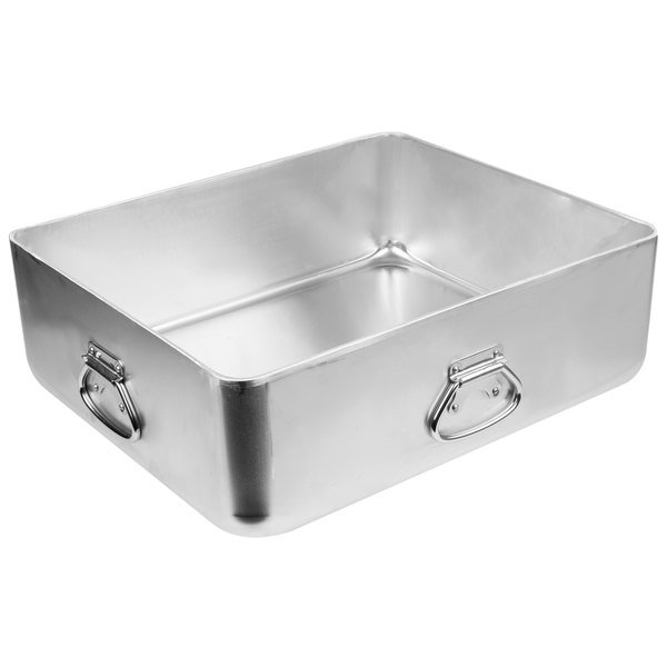 This Aluminum Roaster Pan Is Perfectly Suited For Open Roasting Or You Can Pair It With Its Cover Sold Separately To Make A Snug Fitting Double