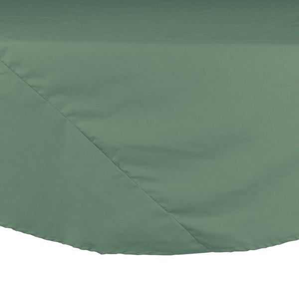 "72"" Seafoam Green Round Hemmed Polyspun Cloth Table Cover"