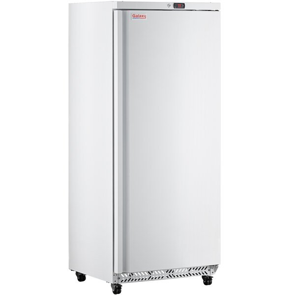 "Galaxy GRI-20-RW 30 1/2"" White Solid Door Reach-In Refrigerator Main Image 1"