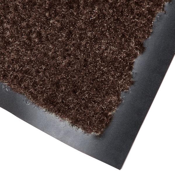 Cactus Mat 1437M-B46 Catalina Standard-Duty 4' x 6' Brown Olefin Carpet Entrance Floor Mat - 5/16 inch Thick