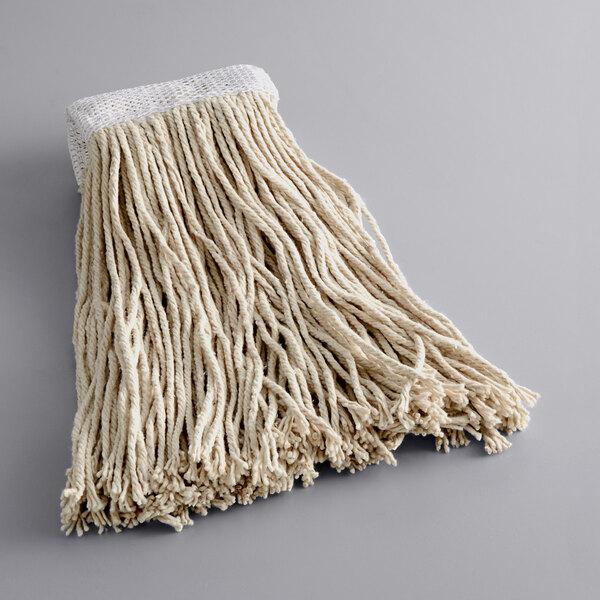 Continental Huskeeclassic A937014 Choice 20 Oz Natural Cotton White Rayon Cut End Wet Mop Head With 5 Band