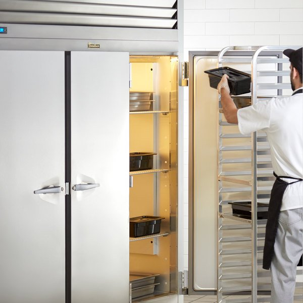 """Traulsen G30010 77"""" G Series Solid Door Reach-In Refrigerator with Left / Right / Right Hinged Doors"""