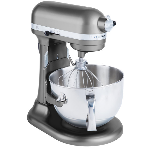 KitchenAid KP26M1XPM Pearl Metallic Professional 600 Series 6 Qt. Countertop Mixer Main Image 1