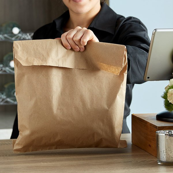 """FREE SHIPPING Duro 15/"""" x 18/"""" Brown Paper Grocery Merchandise Bag 500 Bags"""