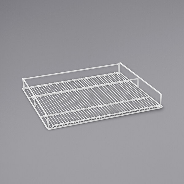 Beverage-Air 412-070D-01 White Flat Wine Rack for MMR44HC-WINE and MMRR72HC-WINE Single Section Main Image 1