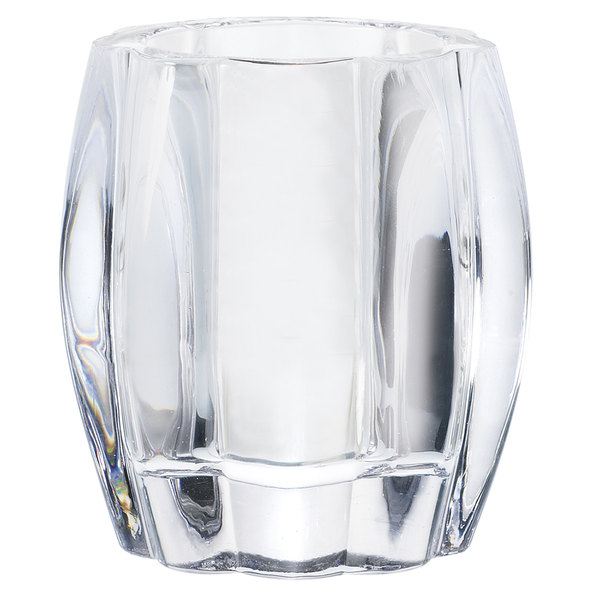 """Sterno Products 80224 4"""" Ribbed Glass Round Liquid Candle Holder"""