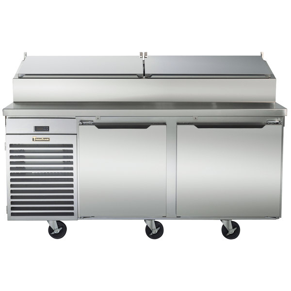 """Traulsen TS072HT 72"""" Salad / Pizza Prep Refrigerator with Two Doors - Specification Line"""