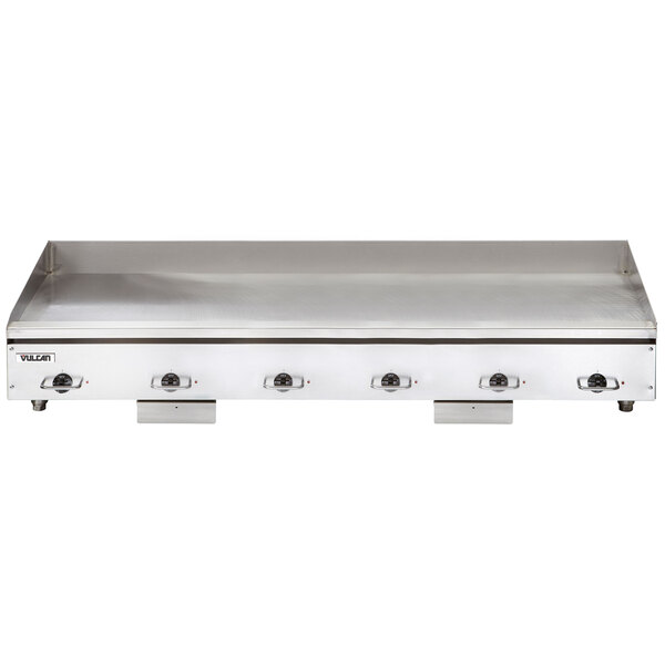 """Vulcan HEG72E-24C 72"""" Electric Chrome Top Restaurant Griddle with Snap-Action Thermostatic Controls - 208V, 1 Phase, 32.4 kW Main Image 1"""