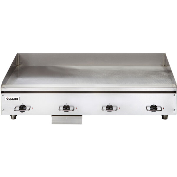 "Vulcan HEG48E-24C 48"" Electric Chrome Top Restaurant Griddle with Snap-Action Thermostatic Controls - 208V, 3 Phase, 21.6 kW Main Image 1"