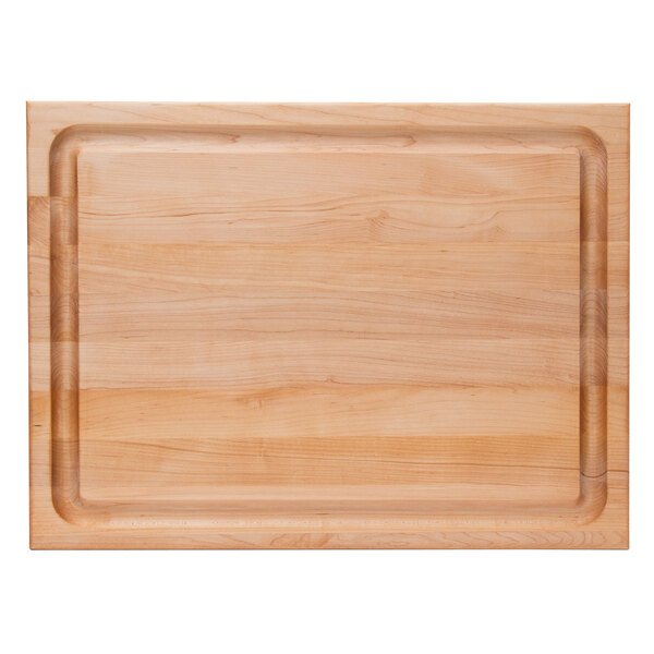 John Boos Co Cb1054 1m2418150 24 X 18 X 1 1 2 Grooved Reversible Maple Wood Barbecue Cutting Board With Hand Grips