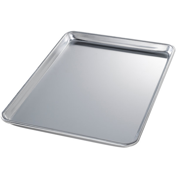 Chicago Metallic 40800 Full Size 18 Gauge Aluminum Sheet Pan - Wire in Rim, 18 inch x 26 inch