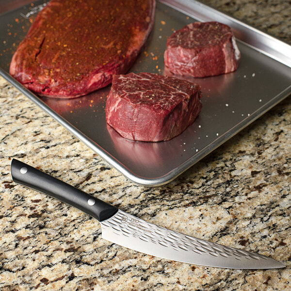 """Kai PRO HT7070 6 1/2"""" Curved Boning and Fillet Knife with POM Handle Main Image 2"""